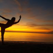 ingrid bott private yoga teacher sunset