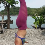ingrid bott private yoga teacher beach