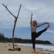 ingrid bott yoga teacher beach