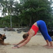 ingrid bott yoga teacher downward facing dog